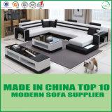 Mobilia moderna del sofà d'angolo di cuoio moderno europeo