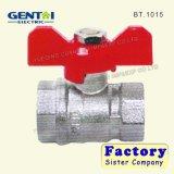 Überzogenes Nickel-volles PortMessingkugelventil mit Basisrecheneinheits-Griff