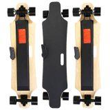 Controlador doble de 4 ruedas Skateboard eléctrico con asa portátil