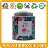気密の内部のふたおよびリベットの茶筒、食品包装の缶、金属の錫ボックスが付いているカスタム円形の茶錫
