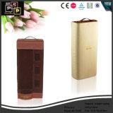 Custom de PU de cartón de color rojo vino de lujo en caja con forro de terciopelo (2135)