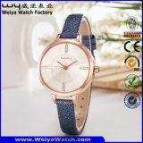 숙녀 (WY-042B)를 위한 형식 공장 가죽끈 석영 손목 시계