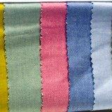 Tela del Spandex del poliester del algodón para la ropa del juego de la capa de alineada de la mujer