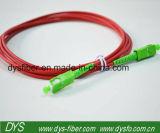 Câble de cavalier recto uni-mode de fibre de Sc/APC
