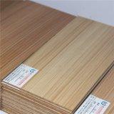 Papel impregnado melamina de madera del grano de la teca para Blockboard (7004)