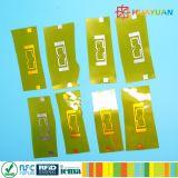 Étiquette lnlay d'IDENTIFICATION RF anti-calorique de fréquence ultra-haute de HUAYUAN IMPINJ R6