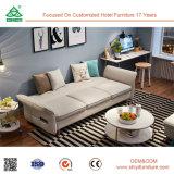 Кровать софы индийского Recliner Честер типа высоко заднего деревянного новая секционная обитая