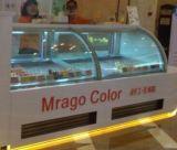 Совмещенная высоким качеством витрина замораживателя/холодильника индикации