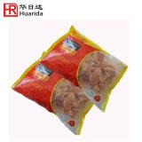 Пластиковый мешок для упаковки продуктов моря кадра с выемкой