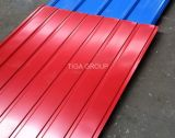 Azulejo prepintado acanalado de la hoja de acero/de azotea del color de Ral de la onda de China