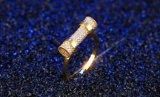 Libre de níquel de alta calidad chapado en oro de la nueva Bisutería Anillo de zirconio