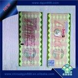 Sicherheits-kundenspezifische UVfaser-heiße stempelnde Hologramm-Bescheinigung
