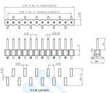 China Factory pH 2,0mm de Pinos de Linha Única