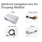 인조 인간 GPS 항법 VW Touareg Rns850 미러 링크를 위한 영상 공용영역 상자, 던지기 스크린, 음성 통제