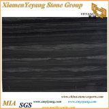 Schwarzer hölzerner Marmor für Fußboden, Wand, Küche-Dekoration (YY-MS197)