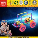 Высокое качество DIY цветные блоки образования большой игрушка поезд