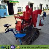 Гусеничный трактор 0.8kg/S емкость подачи мини зерноуборочный комбайн
