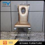 椅子を食事する現代家具のステンレス鋼の椅子の宴会