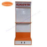 Metall durchlöcherter Befestigungsteil-Hilfsmittel-Bildschirmanzeige-Regal-Standplatz mit heller Kasten-Vorsatz