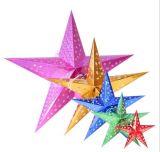 Estrela do papel do rádio das decorações da árvore de Natal