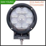 4X4 LEIDENE van CREE Drijf Lichte Lamp voor de Vorkheftruck van de Vrachtwagens van de Tractor 60W 7 Duim