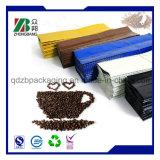 Schwarzer Plastikkaffee-Mattbeutel mit seitlichem Stützblech