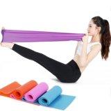 1.5m mehrfarbiges elastisches Yoga Pilates Gummiausdehnungs-Widerstand-Übungs-Eignung-Band