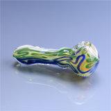 Tubo de cristal de la mano del tubo que fuma del tubo colorido de cristal de la cuchara