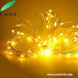 cadena de plata del alambre LED de los 10m 100LEDs para la Navidad con el adaptador