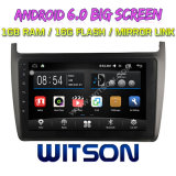"Grand écran 9"" WITSON Android 6.0 voiture DVD POUR VOLKSWAGEN Polo 2012"