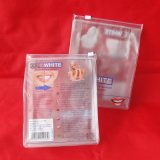 O costume imprimiu o saco de plástico transparente do fechamento do fecho de correr do PVC