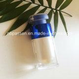 bottiglia senz'aria acrilica blu lucida 15ml per l'imballaggio dell'estetica (PPC-NEW-164)