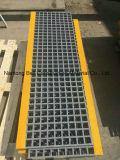 La banda de rodadura de la escalera de fibra de vidrio, la banda de rodadura antideslizante, retículo de plataforma, el FRP peldaños de escalera.