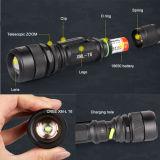 Телескопическая трубка Zoom КРИ T6 светодиодный аккумуляторный светодиодный фонарик (POPPAS-S16)