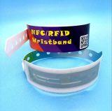 Pulsera disponible ultraligera de la identificación del wristband del esquí MIFARE RFID del parque del agua