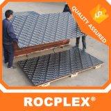 Rocplex 브라운 필름 셔터 합판, 12mm 필름은 합판 중국 의 플라스틱 콘크리트, Formworkformwork 합판 12mm 15mm 18mm를 직면했다