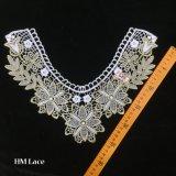33*29cmの金花カラーレースのアップリケ、宝石類、縫う変えられた衣類衣裳Hme905のための金のVeniseのラック