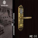 Cobre puro luxo tipo europeu um graminho fechadura de porta