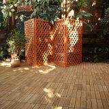 中国のもみの床カバータイルのデッキの製造業者のための卸し売り屋外の外部の携帯用テラスの積層物の実質木