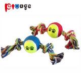 Chew Toy Pelota de Tenis de la cuerda de algodón mascotas de dentición Juguetes