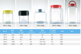 бутылка прозрачного любимчика 600ml пластичная для еды, заедок, печений, Nuts упаковывать