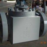 Form-Stahl u. schmiedete weiches Sitzspitzeneintrag-Drehzapfen eingehangenes Stahlkugelventil
