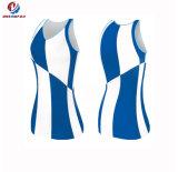 Vestito uniforme dei commerci all'ingrosso di Cheerleading Sleeveless su ordinazione superiore poco costoso di forma fisica per le donne