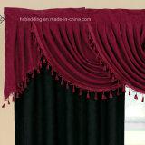 Cortina oscura del bolsillo de Rod del diseño de la guardamalleta del vino púrpura/rojo