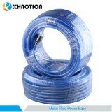 Buena Cantidad de aire de alta presión trenzada de PVC flexible con clavija de Alemania