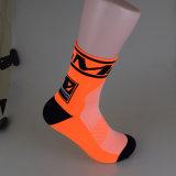 La tripulación al por mayor de las medias de compresión de los calcetines calcetines de poliéster ciclismo