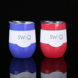卸し売り新しいアマゾン卵のワインの固体コップのがぶ飮みのタンブラーのステンレス鋼のマグ