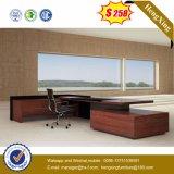 Dunkle Gry Bescheidenheit-Panel-Eichen-Tischplattenbüro-Tisch (HX-G0195)