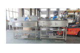 De automatische Dubbele Hoofden om de Vierkante Fles van Labeler van de Fles krimpen de Machine van de Etikettering van de Koker voor het Lichaam van de Fles en Kroonkurk met de Elektriciteit van Siemens