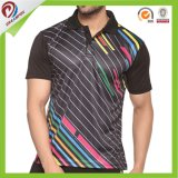 Breathable Polyester-Sublimation-schnelles trockenes kundenspezifisches Mann-Polo-Hemd 100%